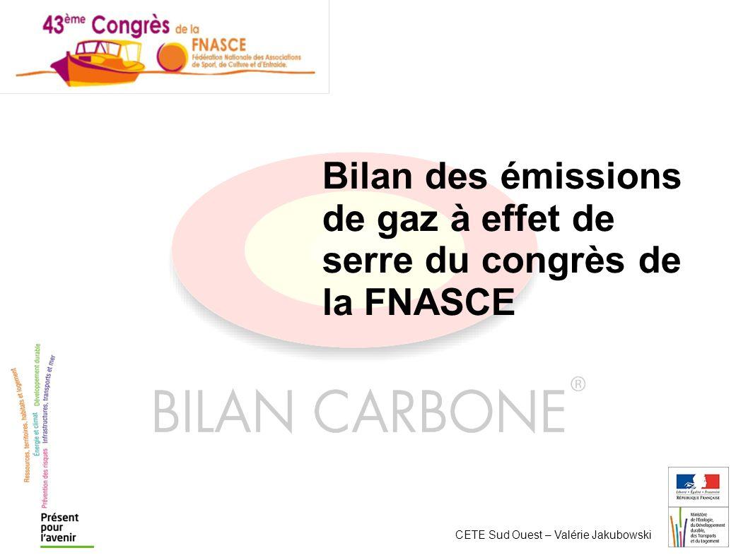Bilan des émissions de gaz à effet de serre du congrès de la FNASCE