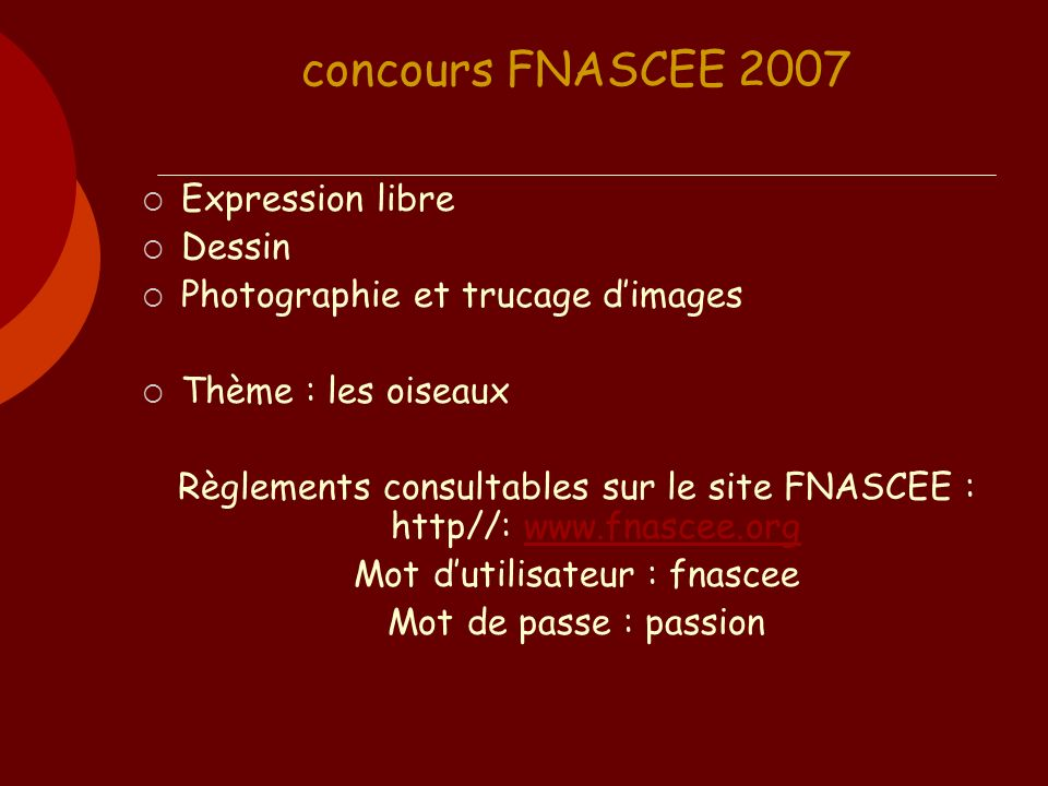 concours FNASCEE 2007 Expression libre Dessin