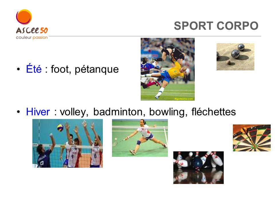 SPORT CORPO Été : foot, pétanque