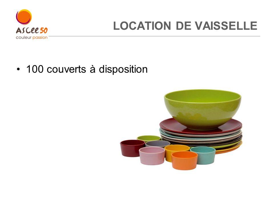 LOCATION DE VAISSELLE 100 couverts à disposition 13