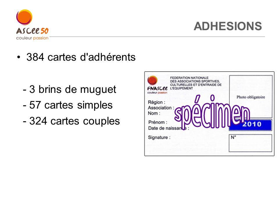 ADHESIONS 384 cartes d adhérents - 3 brins de muguet