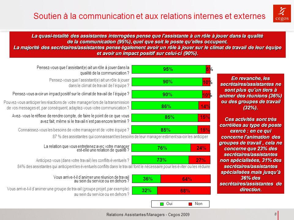 Soutien à la communication et aux relations internes et externes