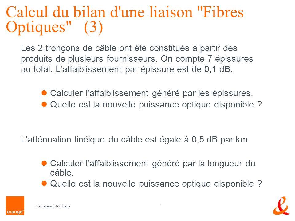 Calcul du bilan d une liaison Fibres Optiques (3)