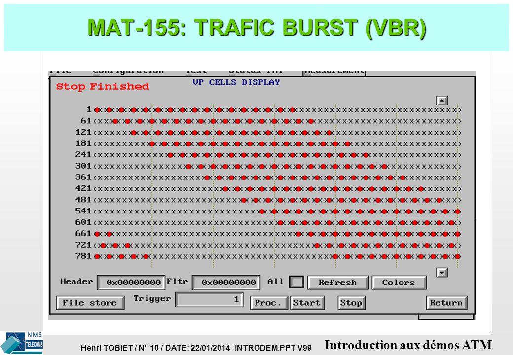 MAT-155: TRAFIC BURST (VBR)