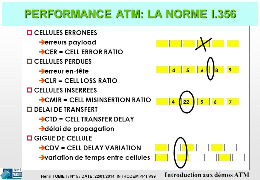 PERFORMANCE ATM: LA NORME I.356