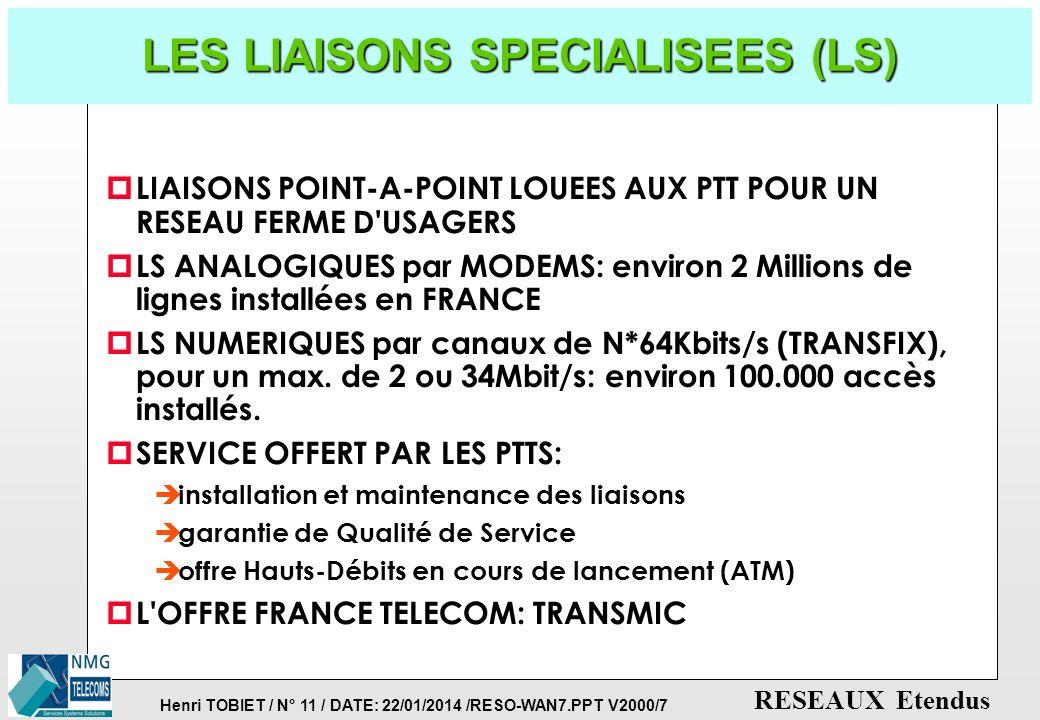 LES LIAISONS SPECIALISEES (LS)