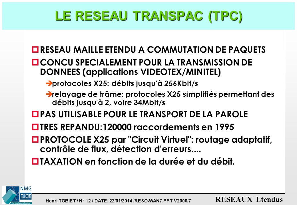 LE RESEAU TRANSPAC (TPC)