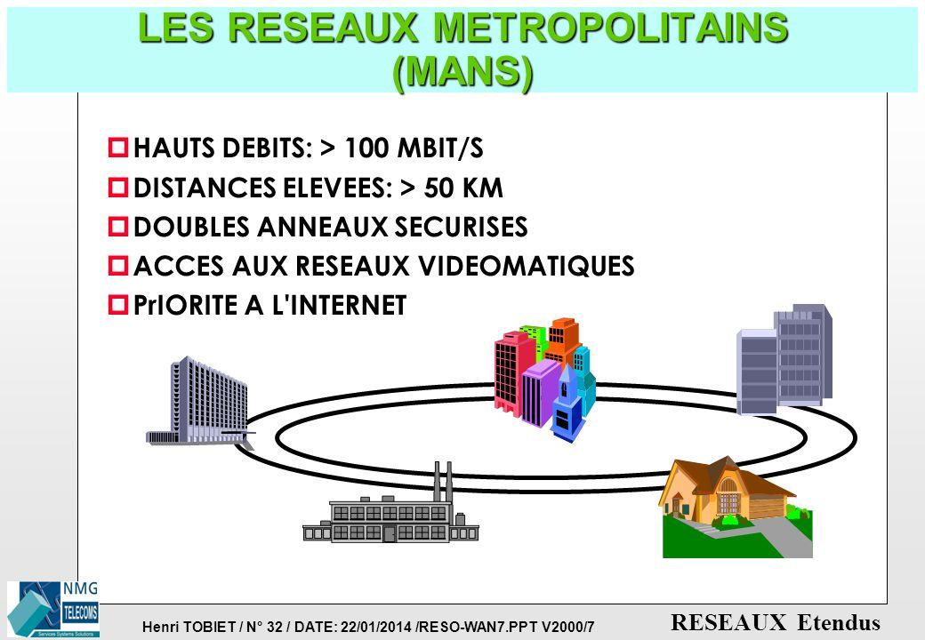 LES RESEAUX METROPOLITAINS (MANS)
