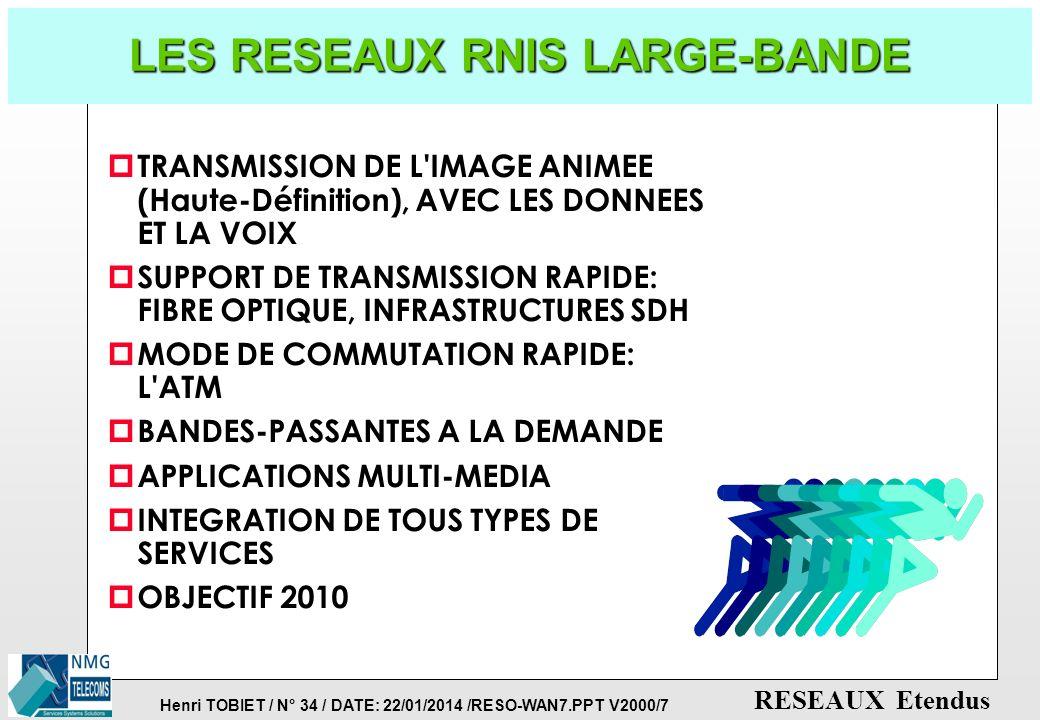 LES RESEAUX RNIS LARGE-BANDE