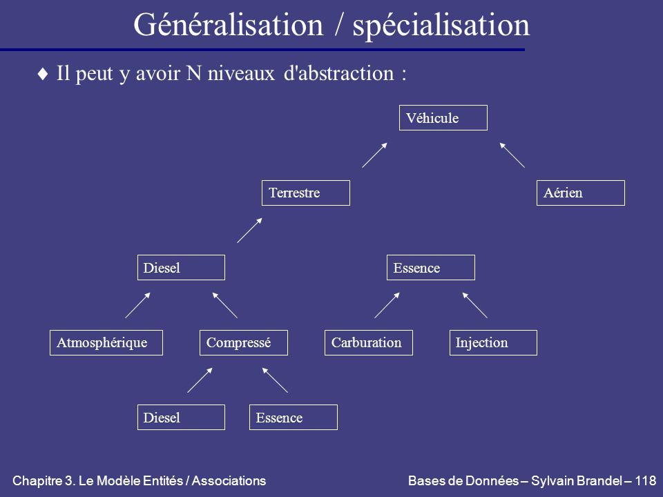 Généralisation / spécialisation