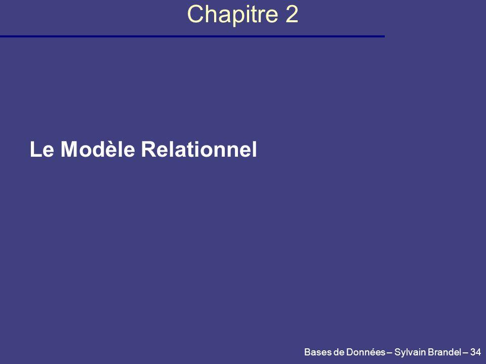 Chapitre 2 Le Modèle Relationnel