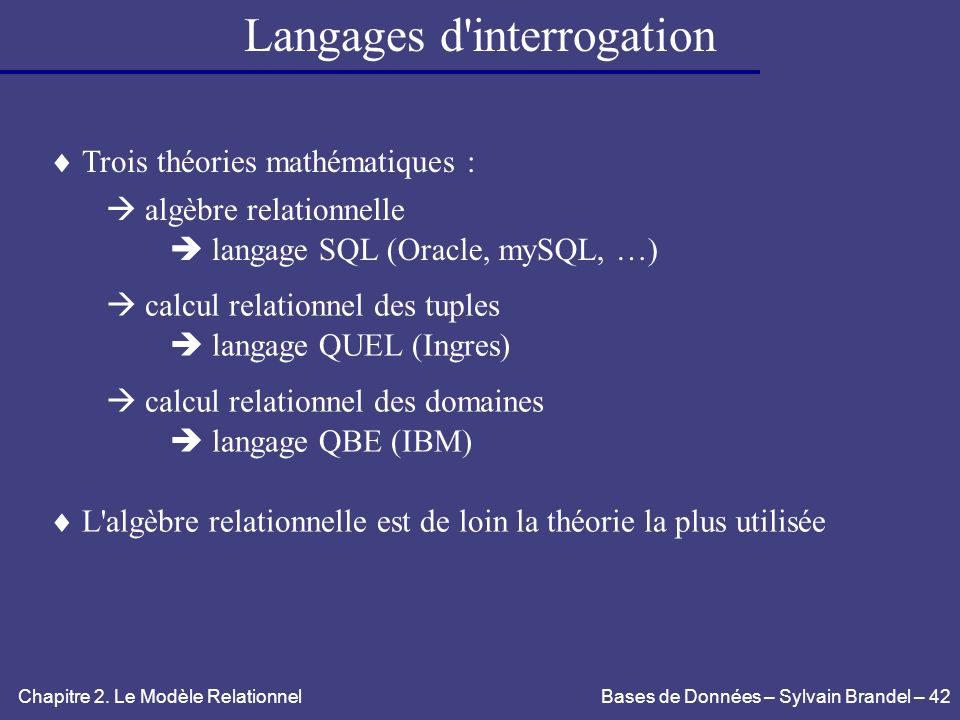 Langages d interrogation