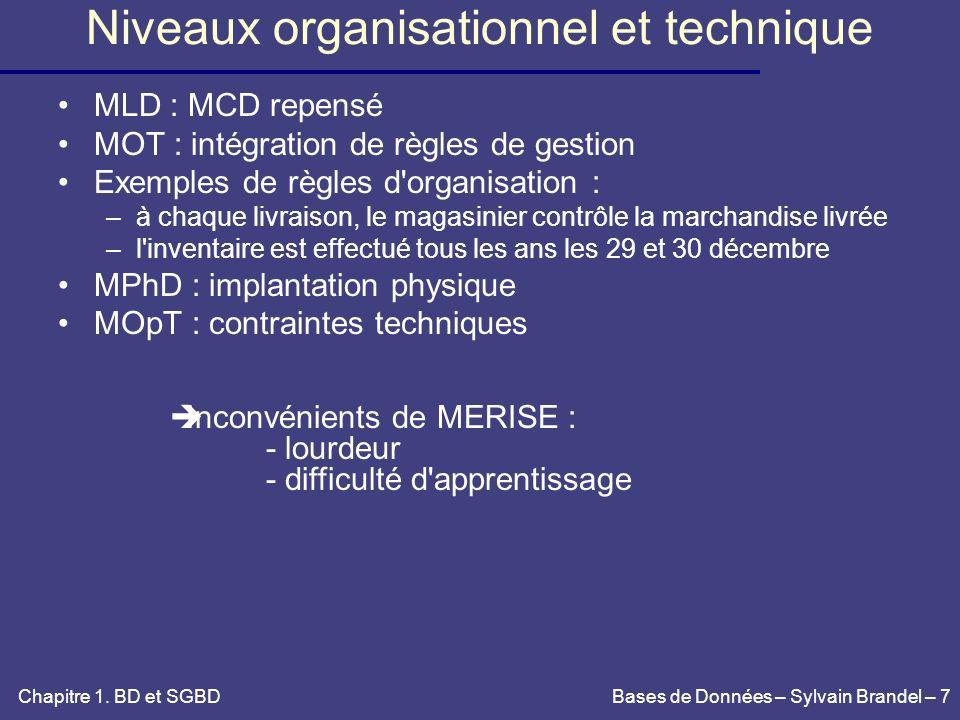 Niveaux organisationnel et technique