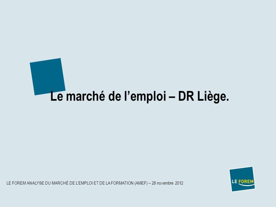 Le marché de l'emploi – DR Liège.