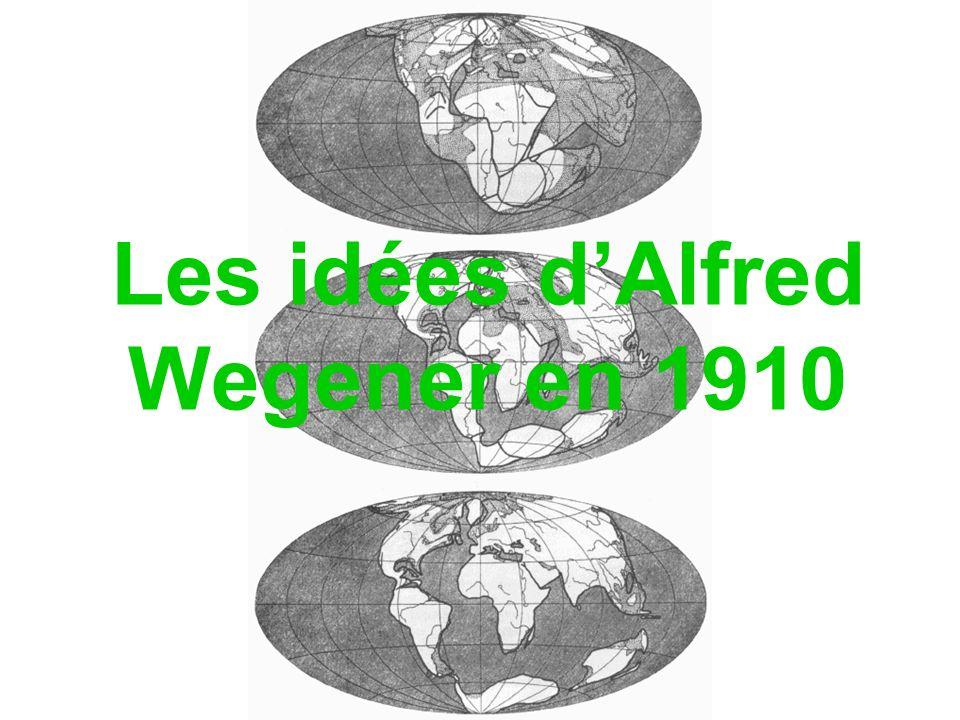 Les idées d'Alfred Wegener en 1910