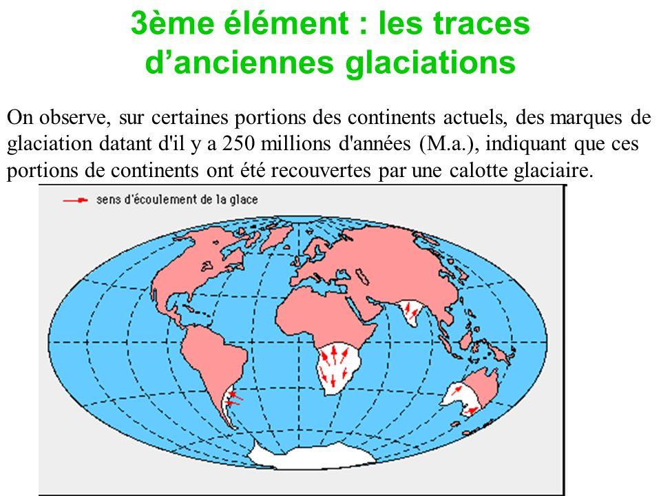 3ème élément : les traces d'anciennes glaciations