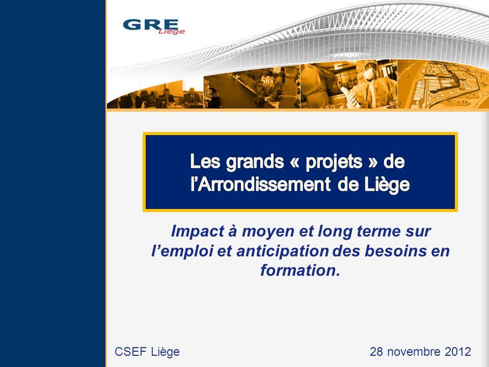 Les grands « projets » de l'Arrondissement de Liège