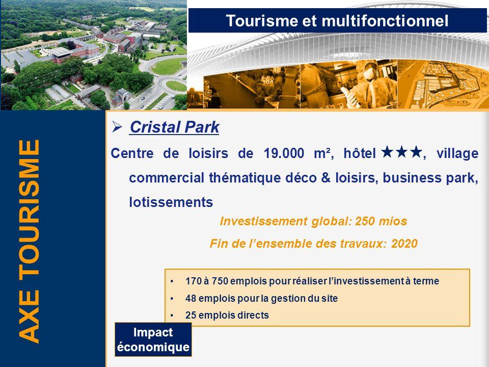 AXE TOURISME Tourisme et multifonctionnel Cristal Park