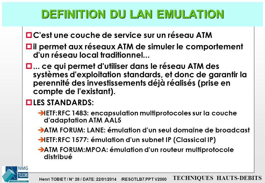 DEFINITION DU LAN EMULATION