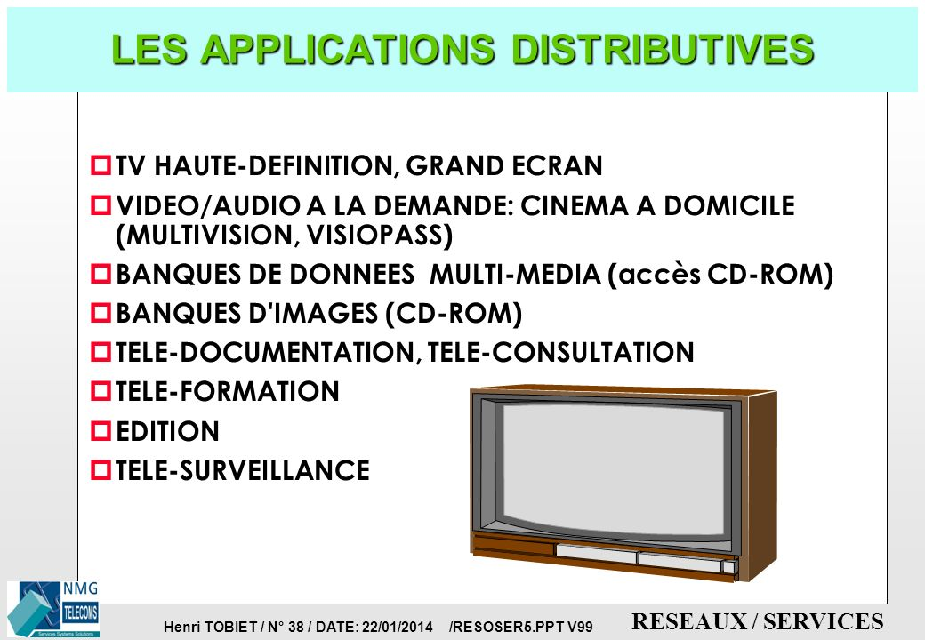 LES APPLICATIONS DISTRIBUTIVES