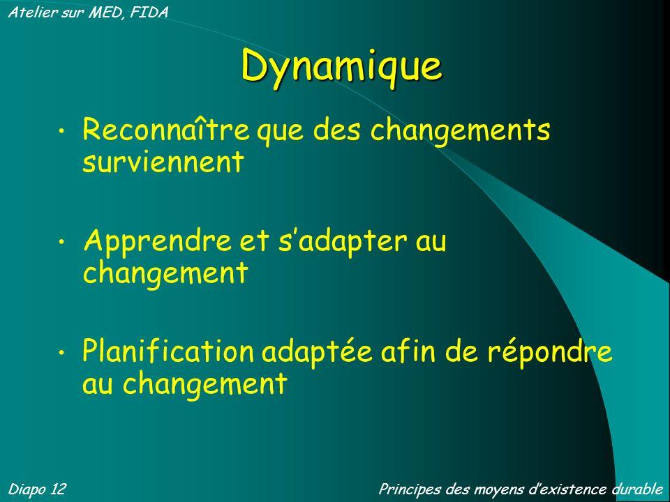 Dynamique Reconnaître que des changements surviennent