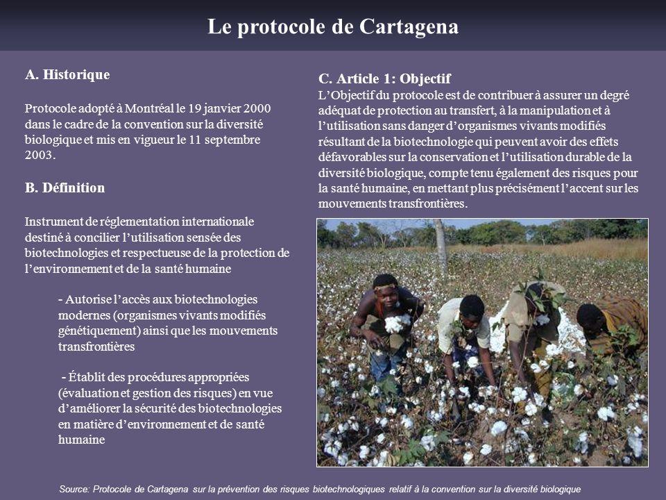Le protocole de Cartagena
