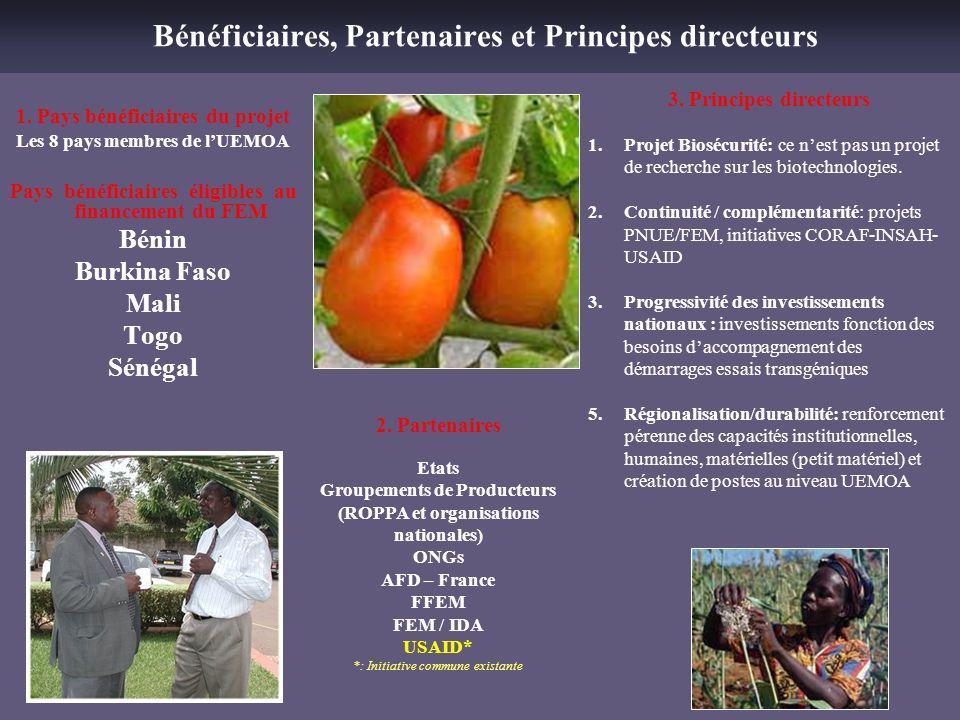 Bénéficiaires, Partenaires et Principes directeurs