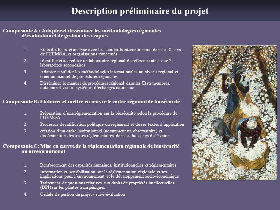 Description préliminaire du projet
