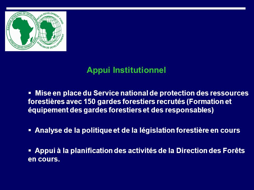 Appui Institutionnel