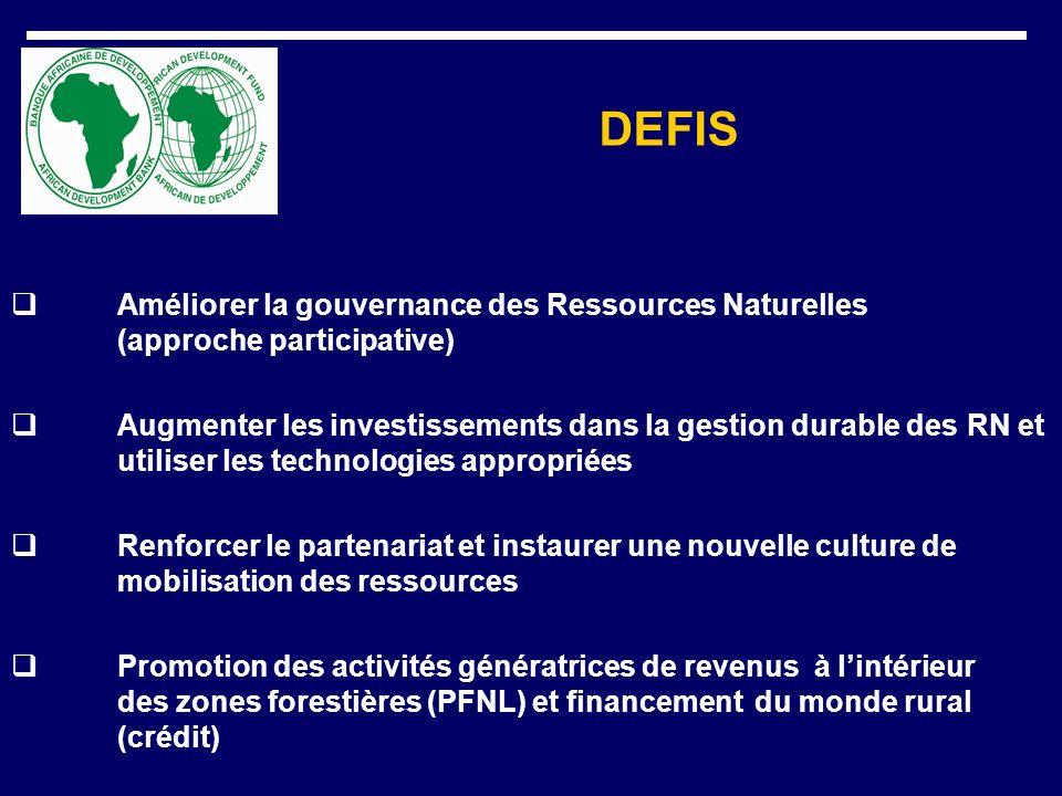 DEFIS Améliorer la gouvernance des Ressources Naturelles (approche participative)