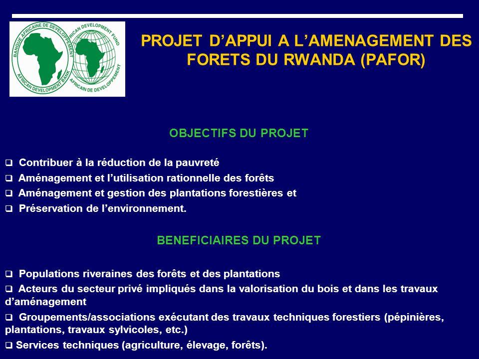 PROJET D'APPUI A L'AMENAGEMENT DES FORETS DU RWANDA (PAFOR)