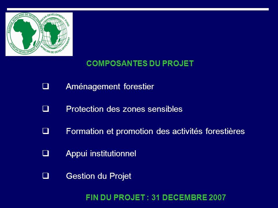 FIN DU PROJET : 31 DECEMBRE 2007
