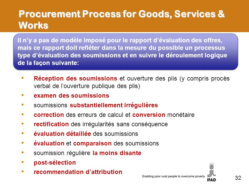 Procurement Process for Goods, Services & Works
