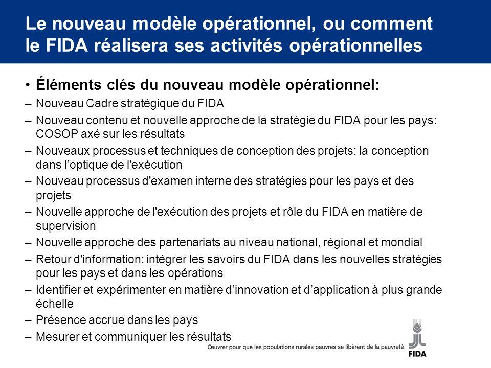 Le nouveau modèle opérationnel, ou comment le FIDA réalisera ses activités opérationnelles