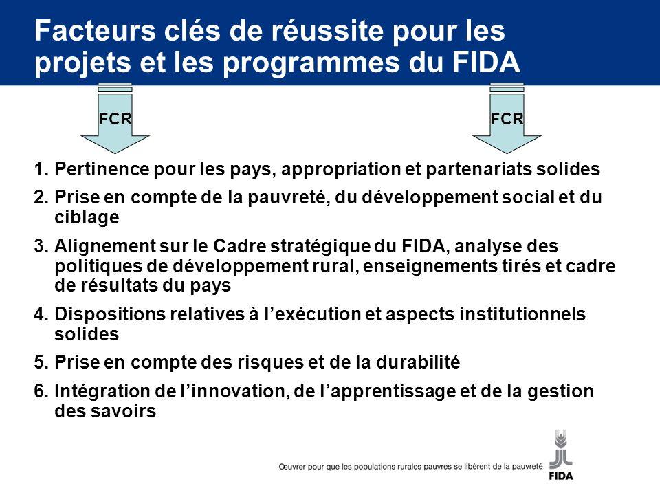 Facteurs clés de réussite pour les projets et les programmes du FIDA