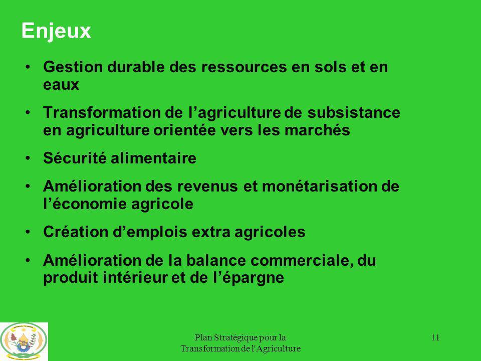 Plan Stratégique pour la Transformation de l Agriculture