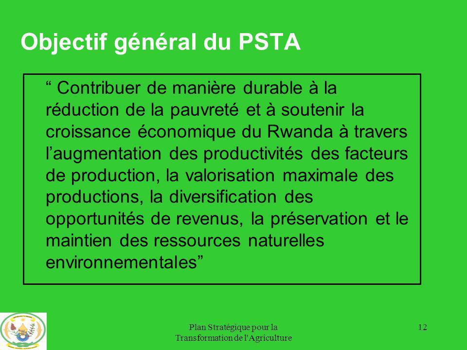 Objectif général du PSTA