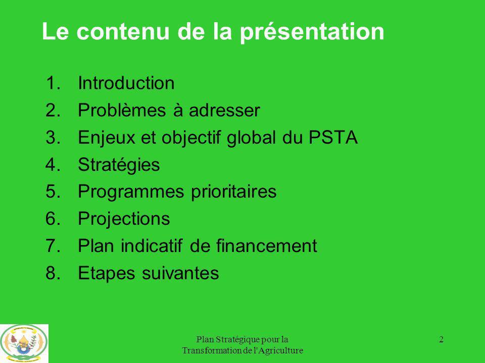 Le contenu de la présentation