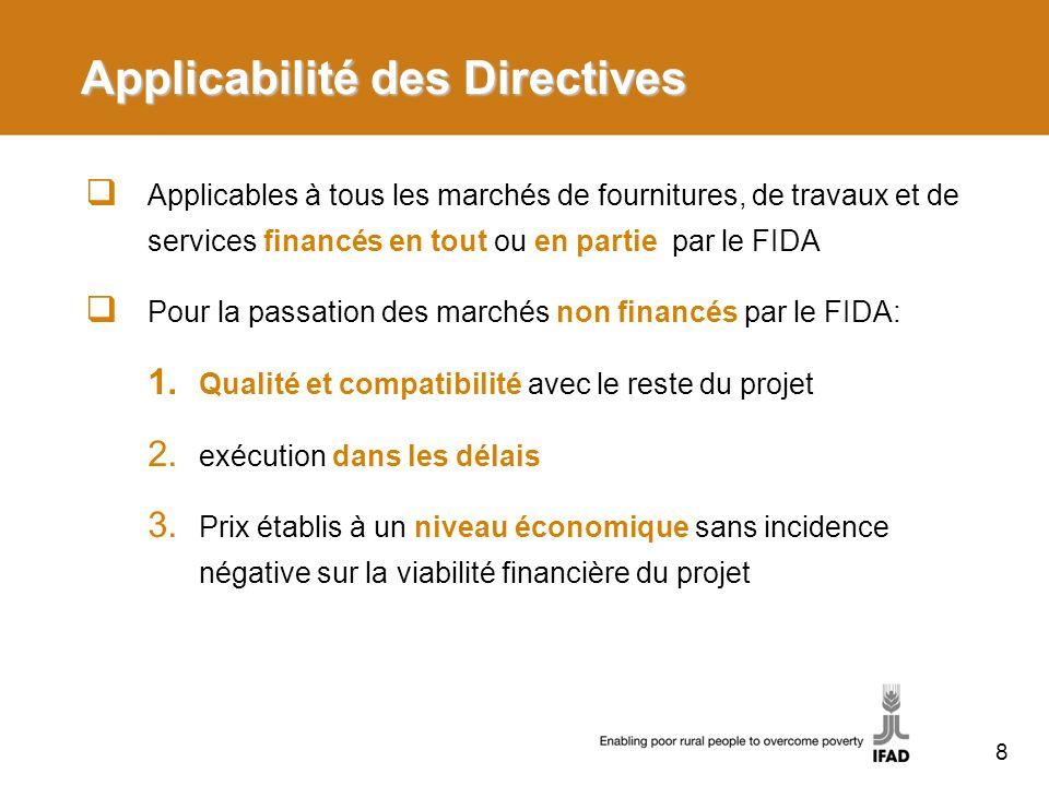 Applicabilité des Directives
