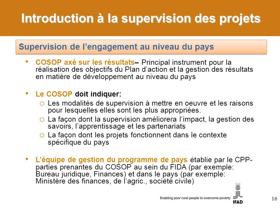 Introduction à la supervision des projets