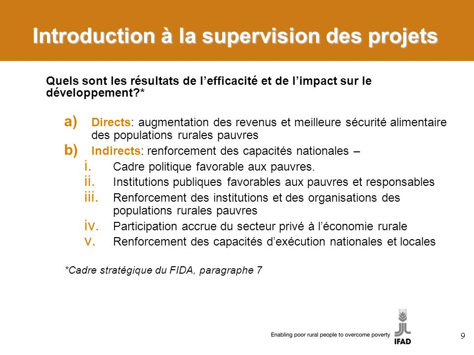 Introduction à la supervision des projets
