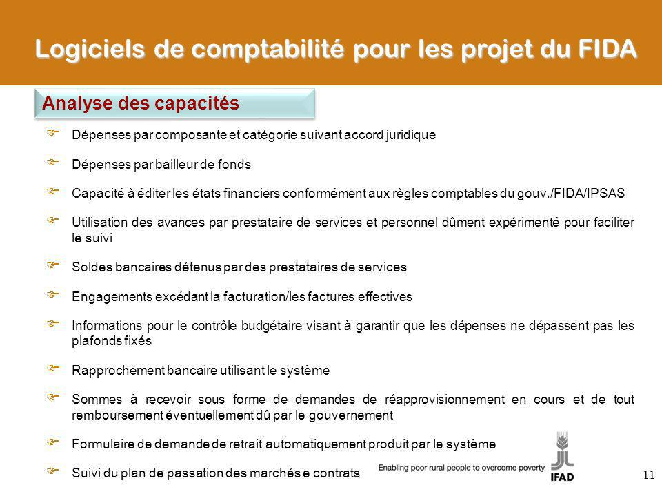 Logiciels de comptabilité pour les projet du FIDA