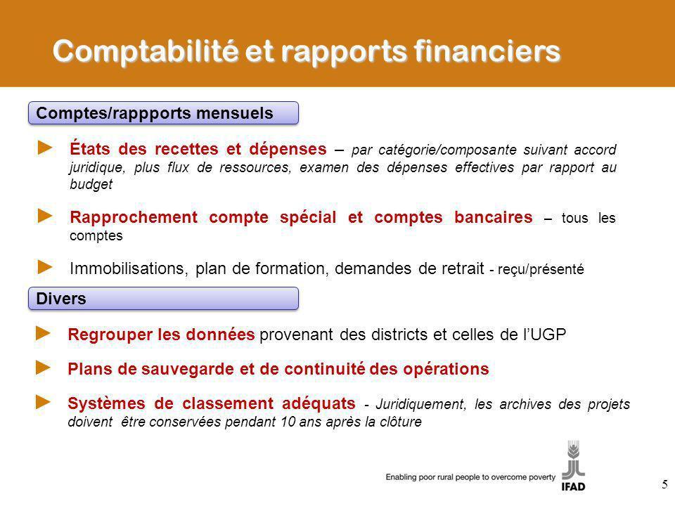 Comptabilité et rapports financiers