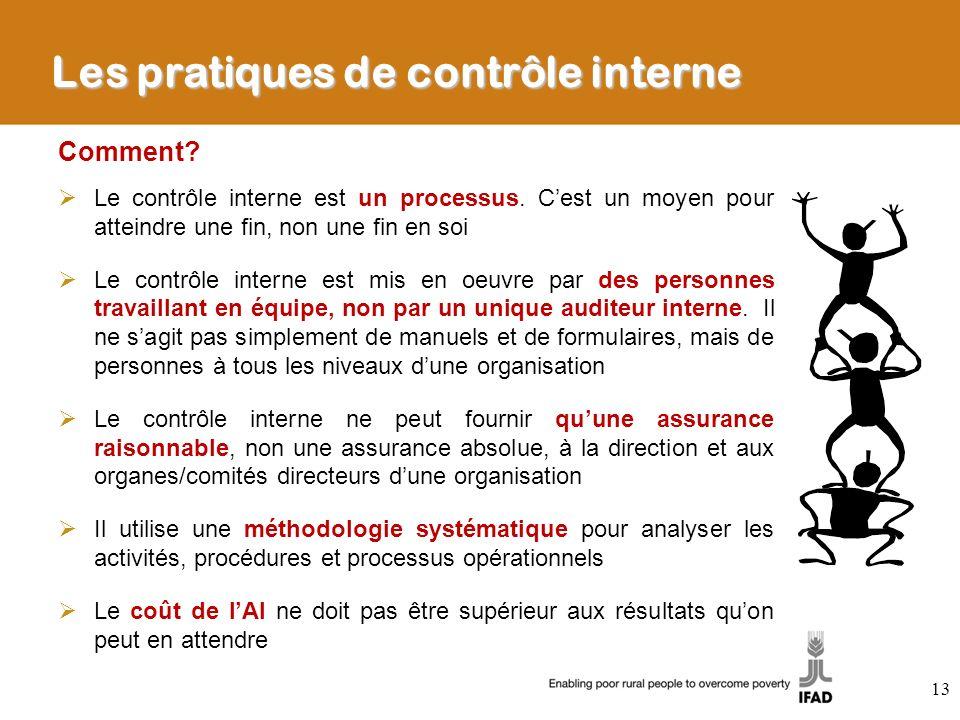 Les pratiques de contrôle interne