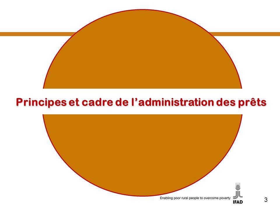Principes et cadre de l'administration des prêts