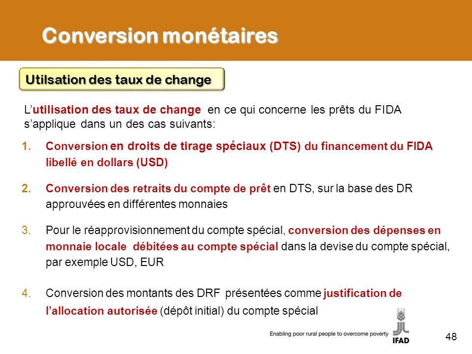 Conversion monétaires