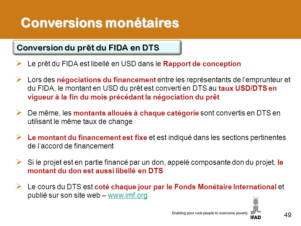 Conversions monétaires