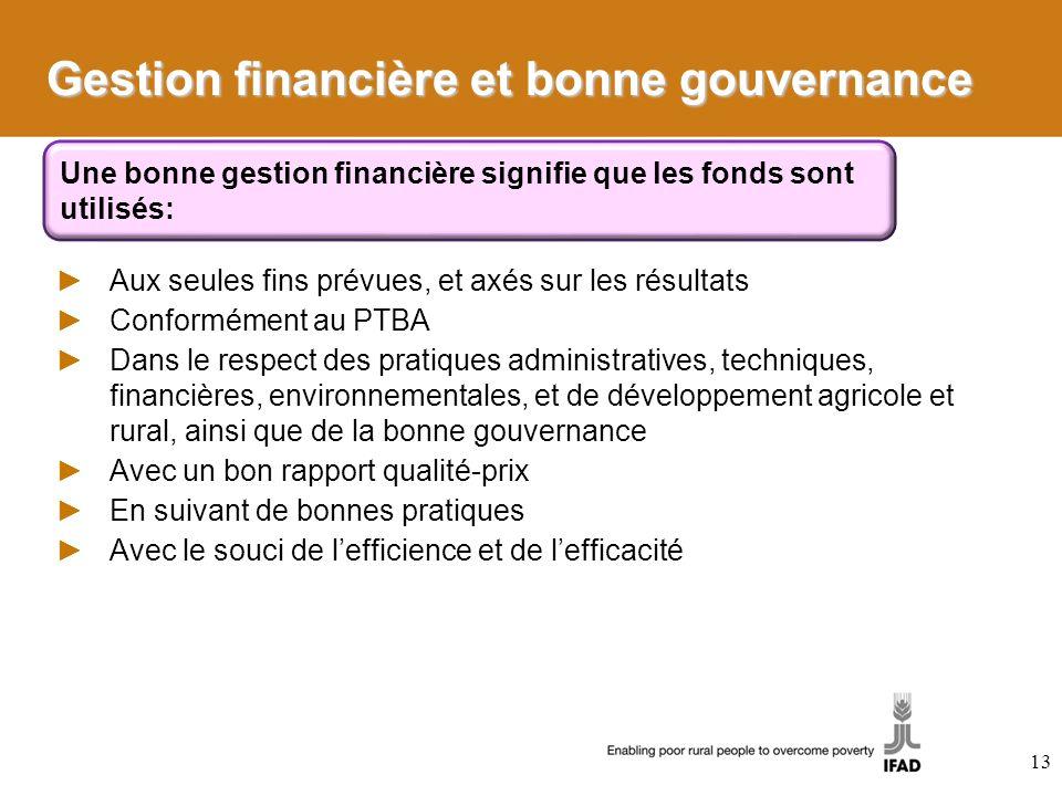 Gestion financière et bonne gouvernance