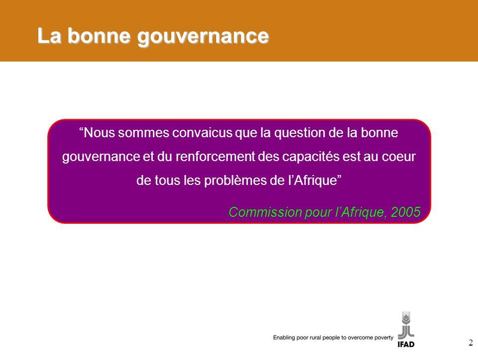 La bonne gouvernance