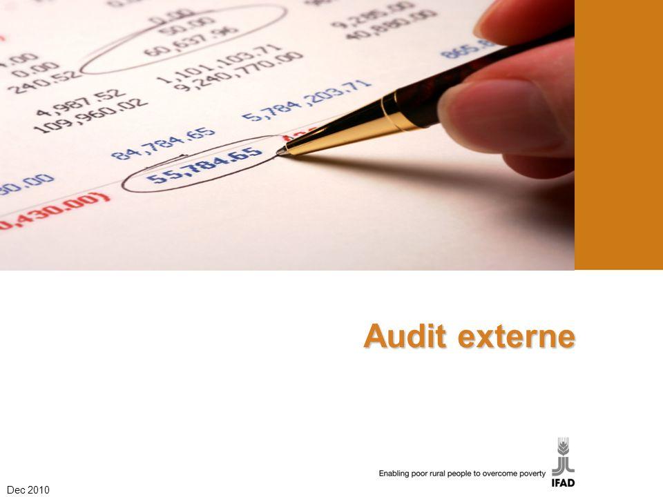 Audit externe Dec 2010 1